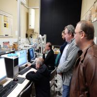 Visite du 4M au labo du IRSNB.